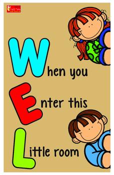 Welcome Sign For Classroom Door : welcome, classroom, Welcome, Classroom, Decoration