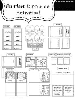 West Region Lapbook & Interactive Notes by MsAPlusTeacher