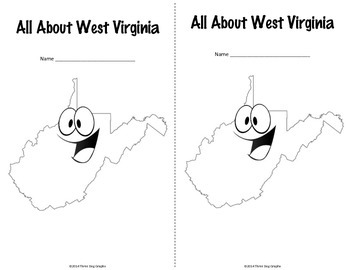 West Virginia Webquest Common Core Research Mini Book by