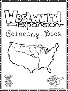 Westward Expansion Coloring Book worksheets. Preschool-2nd