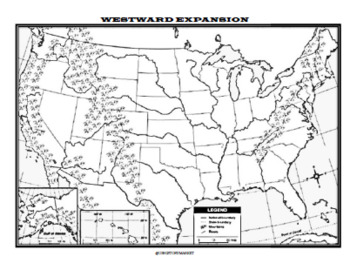 Westward Expansion (Manifest Destiny) Map/Graphic
