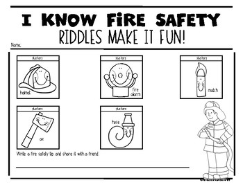 What Am I? (Fire Safety Riddles} October is Fire Safety