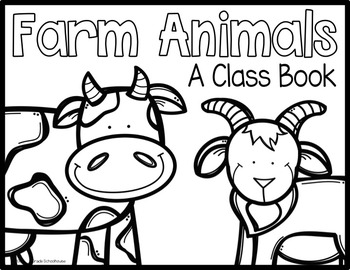 Writing About Farm Animals Kindergarten by First Grade