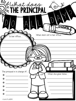 What Does the Principal Do All Day Poster Activity by