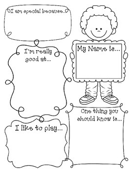 What I like about me! Self Esteem Lesson and Activity by