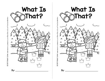 What Is That?-SIGHT WORD Emergent Reader w/worksheets