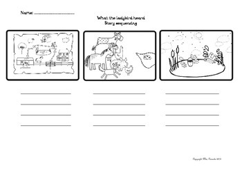What The Ladybird Heard Sequencing Worksheet by Mrs