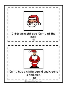 Christmas Social Story Social Skills Autism by Stars On