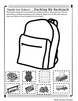 Backpack Safety: Cut and Paste by KidZ Learning