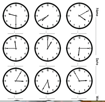 What time is it? A variety of clocks to practice telling