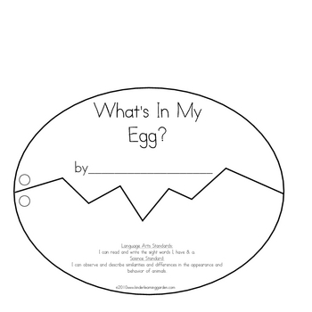 What's In My Egg? Oviparous Animal Book for Students to