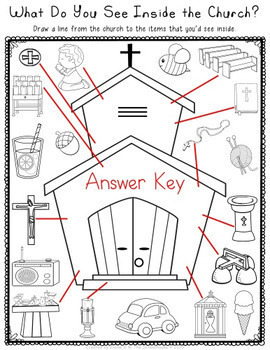 What's Inside the Church Worksheet Pack by The Treasured