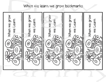 When we learn we grow classroom poster, coloring page and