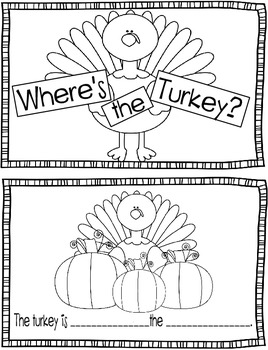 Where is the Turkey? Noun/Preposition Booklet by Jodi