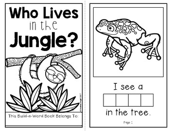 Who Lives in the Jungle? (An Interactive Build-A-Word Book