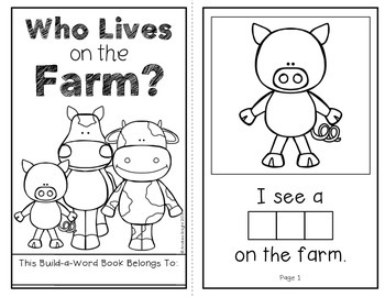 Who Lives on a Farm? (An Interactive Build-A-Word Book for