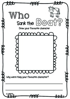 Who Sank the Boat? Literacy & Numeracy Pack by The MandM's