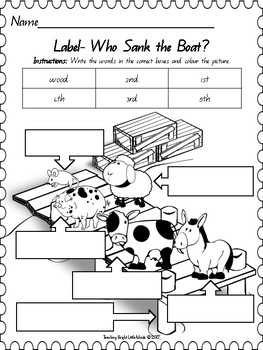 Who Sank the Boat? Bundle by Teaching Bright Little Minds