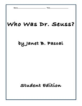 Who Was Dr. Suess Comprehension Questions by 49tshirts
