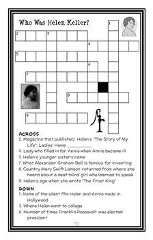 Who Was Helen Keller? (Gare Thompson) Book Study