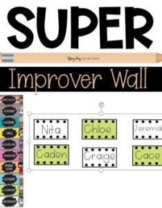 also editable super improver wall whole brain teaching by one fab teacher rh teacherspayteachers