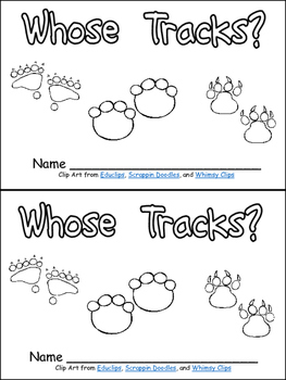 Whose Tracks? Emergent Reader- Kindergarten Science