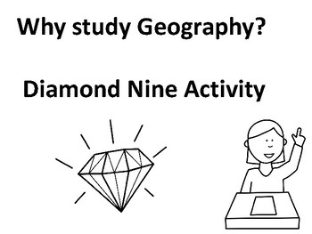 Why study Geography Diamond Nine Activity by Steven's