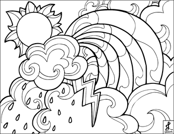 Wild Weather Coloring Page By Lyddie Doodles Teachers Pay Teachers