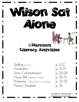Wilson Sat Alone (Supplemental Materials) by Jacobs