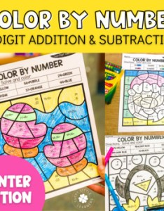 Winter digit addition and subtraction color by number no prep printables also coloring worksheets teaching resources rh teacherspayteachers
