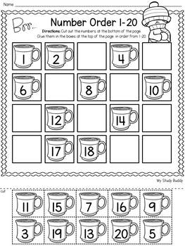 Winter Activities: Numbers 1-20 (Winter Math for
