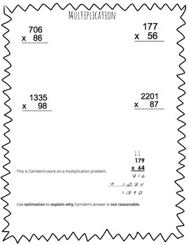 Winter Break 5th Grade Math Review Packet by Danielle