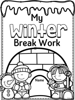 Winter Break Homework ~ Activities for Vacation by Cara's