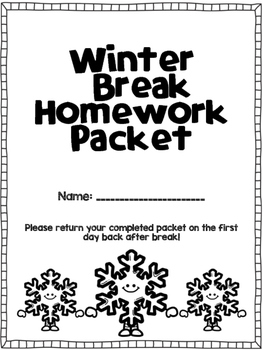 Winter Break Homework Challenge- 1st Grade by Caitlin