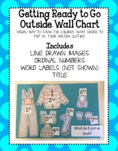 Winter clothes chart also by emily ayers teachers pay rh teacherspayteachers