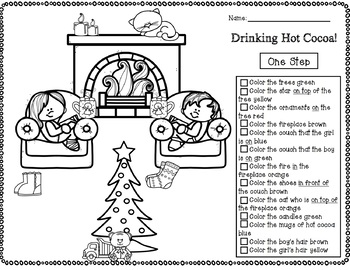 Winter Following Directions Coloring Bundle! by The Power