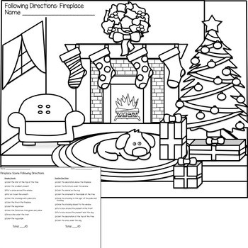 Winter Following Directions Coloring Printable by