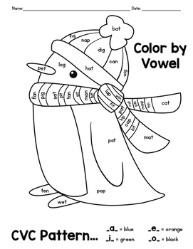 Cvc Coloring Worksheets CVC Worksheets For First Grade