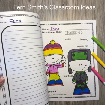 Winter Coloring Pages with Differentiated Seasonal