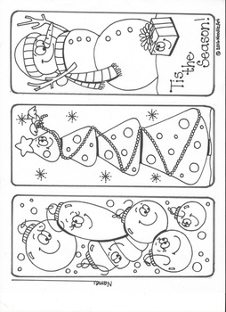 Winter Holiday Bookmarks, Coloring Pages and More! by