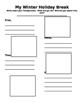 Winter Holiday Break Writing Graphic Organizer by Loving