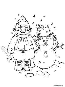 Winter Holiday Coloring Sheets by Beth Hammett the