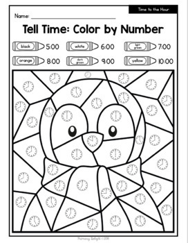 Winter Math: Color by Number with Addition, Subtraction