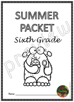 Sixth Grade Summer Packet (Sixth Grade Summer Review