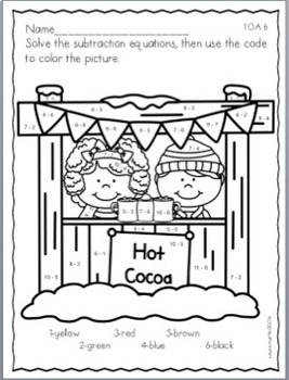 Math Centers-Winter First Grade Common Core Activities by