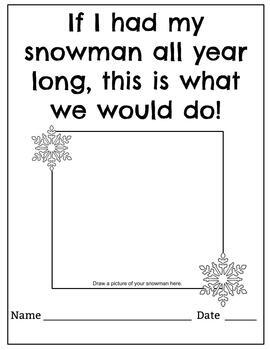Winter Mentor Text: Snowmen All Year by Middle School