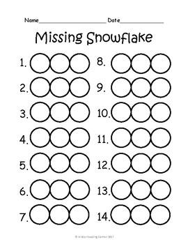 Winter Middle Sound/Short Vowel Practice {Missing