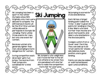 Winter Sports Informational Text Posters and Coloring Book