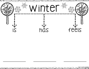 Winter Tree Map Graphic Organizers & Writing by A is for