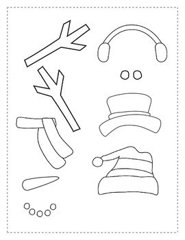 Winter Writing Activity Set for How to Build a Snowman by